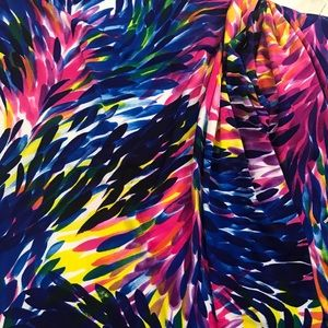 "69""x 36"" Multi Colored Stretch Fabric"